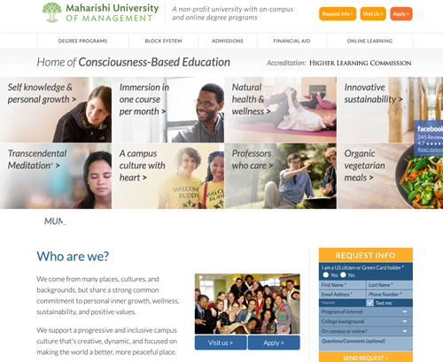 Maharishi University of Management website