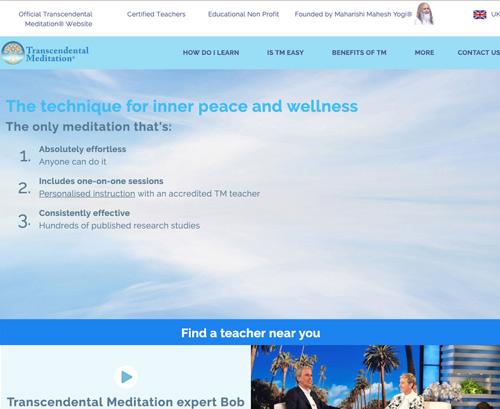 Transcendental Meditation UK website