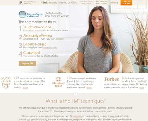 Transcendental Meditation US website